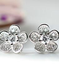Stud Earrings Love Luxury Sterling Silver Zircon Cubic Zirconia Imitation Diamond Jewelry For Daily Casual