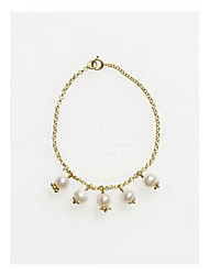 Chain Bracelet Pearl Alloy Fashion Jewelry Gold Jewelry 1pc
