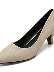High Heels-Kleid Lässig Party & Festivität-Glanz-Kitten Heel-Absatz-Club-Schuhe-Schwarz Silber Gold
