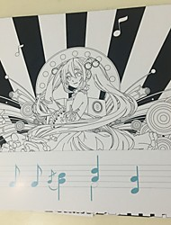 Vocaloid Miku Rin Ren Coloring Book