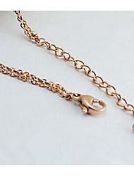 Femme Bracelet de cheville/Bracelet Alliage Amitié Mode Forme de Coeur Or Aux femmes Bijoux Soirée Quotidien Décontracté 1pc