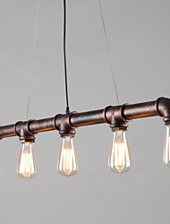 Vintage Industrial Pipe Pendant Lights Creative Lights Restaurant Cafe Bar Decoration lighting With 5 Light Painted Finish