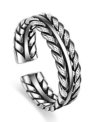 Ring Party Special Occasion Casual Jewelry Silver Plated Ring 1pcAdjustable Silver