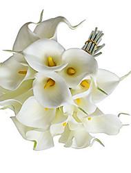 10 Pcs Calla Lily Bridal Wedding Party Decor Bouquet Latex Touch Artificial Flower Bunch (Length35cm)