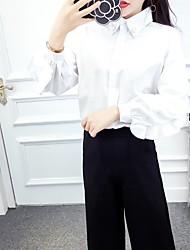 подписать новые + 2017 штаны сладкий рожок рукав рубашки тонкий широкие брюки ноги костюм Нетто