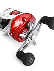 Super Casting Low Profile 12+1 BB Baitcasting Left-handed Fishing Reel (Red)