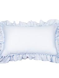 Turqua princesa anna fronha 100% algodão decorativo borda frill princesa estilo bebê rosa azul travesseiro capa