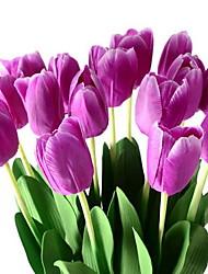 1 Branch Plastic Fiber Tulip