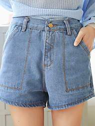 Joch Zeichen 2017 Frühjahr neue koreanische lose einfache elastische Taille Jeans-Shorts