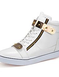 Sneaker-Outddor-Mikrofaser-Flacher Absatz-Komfort-Schwarz Weiß Schwarz-Weiss