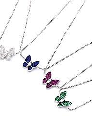 Women's Chain Bracelet Natural Fashion Luxury Crystal Rhinestone Alloy Animal Shape Butterfly White Light Purple Green Blue Jewelry For