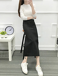 Sign 2016 Hitz high waist pencil skirt black skirts and long sections