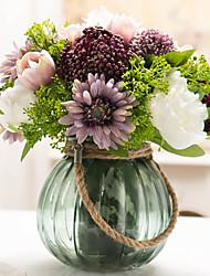 1 Ramo Tulipas Plantas Outras Peônias Flor de Mesa Flores artificiais