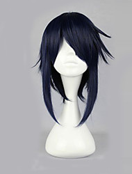 Cosplay Wigs K Reishi Munakata Black Short Anime Cosplay Wigs 40 CM Heat Resistant Fiber Male