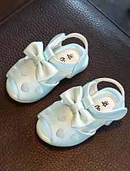 Bébé-Extérieure Décontracté-Blanc Bleu Rose-Talon Bas-Confort Flower Girl Chaussures-Ballerines-Similicuir