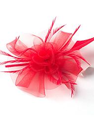 Pluma Red Celada-Boda Ocasión especial Tocados Flores 1 Pieza