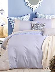 turqua extremamente macio azul 4pcs conjunto de cama de algodão egípcio capa de edredão 100%, incluindo caso Consolador fronha lençol