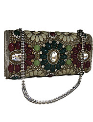 Women India Handcraft Diamonds Beads Rhinestone Event/Party/Clutches Bag