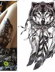 1 Tatuajes Adhesivos Series de Animal Series de Tótem Waterproof 3DMujer Hombre Juventud flash de tatuaje Los tatuajes temporales