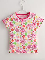 Tee-shirts bébé Fleur Décontracté / Quotidien-Coton-Eté-Rouge