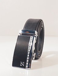 Men's wear resistant PVC black turtle embossed fashion leisure automatic buckle P0016 with about 3.6 cm wide