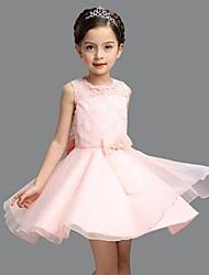 Vestido de baile com vestido de flor com joelho - vestido de organza sem mangas