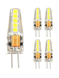 5PCS G4 10LED SMD2835 AC/DC12V 3W 500lm  Warm White White High Quality Double pin Waterproof Lamp