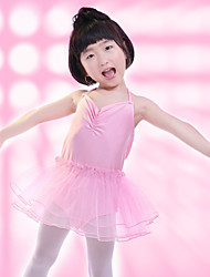 Children's Ballet Dance Dress Performance Polyester Splicing Cross 1 Pieces Sleeveless Dress Blue/Pink Kid's Dancewear