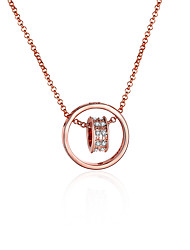 Women's Pendant Necklaces Chain Necklaces AAA Cubic Zirconia Zircon Gold Plated Rose Gold Plated Alloy CircleBasic Unique Design Dangling