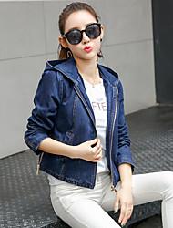 знак джинсовую куртку женский Harajuku студентов БФ ветер свободно капюшоном куртки джинсовые куртки прилив