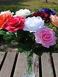1 Une succursale Plastique Roses Fleur de Table Fleurs artificielles 10*10*43