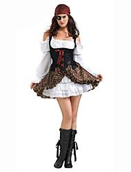 Costumes de Cosplay Sorcier/Sorcière Fête / Célébration Déguisement d'Halloween Couleur Pleine Carnaval Féminin Coton