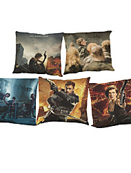 Set of 5 Resident Evil  pattern  Linen Pillow Case Bedroom Euro Pillow Covers 18x18 inches  Cushion cover