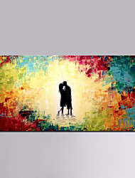 Hand-Painted Abstract Abstract Portrait Horizontal,Modern European Style One Panel Oil Painting For Home Decoration