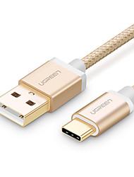 USB 2.0 type C Tressé Câble Pour Samsung Huawei Sony Nokia HTC Motorola LG Lenovo Xiaomi 100 cm Nylon