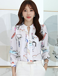 assinar onda coreana hitz de senhoras&# 39; blusas outono fã coreano camisa de chiffon fino manga comprida feminina