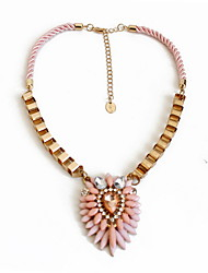 Women's Choker Necklaces Jewelry Gemstone Alloy Jewelry Fashion Personalized Euramerican Pink Jewelry Party Special Occasion Engagement
