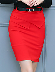 Fashion Wild Pack Hip Temperament Skirt Daily Leisure Home Party OL Solid Color Skirt