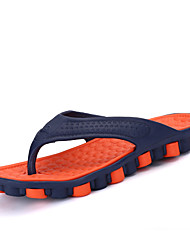 Men's Slippers & Flip-Flops Toe Ring Summer Rubber Casual Orange Gray Ruby Green Flat
