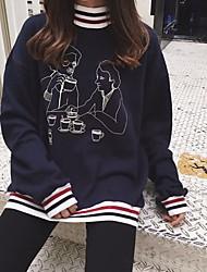 Sign Korean fashion collar thread elderly Comics thicker fleece sweater