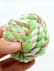 Cat Toy Dog Toy Pet Toys Ball Chew Toy Interactive Rope Durable Cat Nobbly Wobbly Woven Halloween Textile Cotton