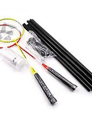 Raquettes de Badminton Volants de plumes Filet de Badminton Indéformable Haute élasticité Fibre de carbone 2 pièces pourExtérieur Sport