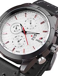 Men's Fashion Watch Wrist watch Quartz Calendar Leather Band Cool Casual Unique Creative Black Screen Color