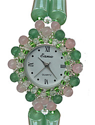 Fashion Watch Bracelet Watch Quartz Jade Band Charm Casual Green