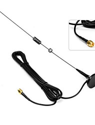 UT-106UV SMA-M High Gain Magnetic Sucker Car Antenna for Baofeng UV - 5R