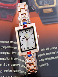 Women's Fashion Watch Simulated Diamond Watch Quartz Rose Gold Plated Alloy Band Casual Rose Gold