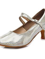 Customizable Women's Dance Shoes Leatherette Patent Leather Sparkling Glitter Leatherette Patent Leather Sparkling Glitter LatinSandals