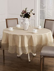 Round Tablecloth For Sale Beige Round Tablecloth 215cm (85inches)