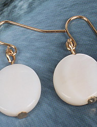 Drop Earrings Earrings Set / Alloy Resin Shell Simple Style milk white Jewelry Daily Casual 1 pair