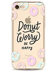 Pour Motif Coque Coque Arrière Coque Mot / Phrase Flexible PUT pour Apple iPhone 7 Plus iPhone 7 iPhone 6s Plus/6 Plus iPhone 6s/6
